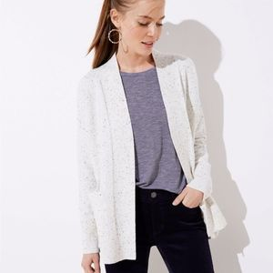 NWT LOFT Speckled Cream Sweater/Cardigan